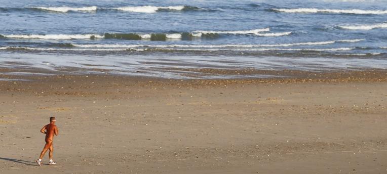 sports at naturist beach